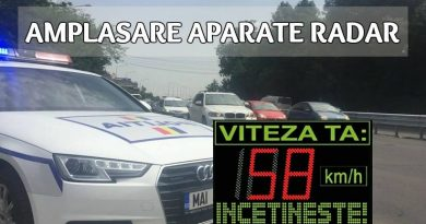 Amplasarea aparatelor radar: Hunedoara