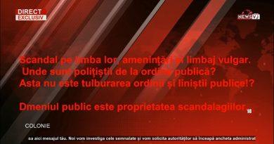 Scandal pe limba lor, amenințări și limbaj vulgar. Unde sunt polițiștii de la ordine publică? Asta nu este tulburarea ordinii și liniștii publice!?/AUDIO