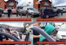 Cu căruța în trafic fără acte și opriți de jandarmii că nu aveau mască/VIDEO