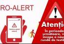 În perioada 16 – 26 iulie, în intervalul orar 10 – 12, la nivelul județului Hunedoara, va avea loc o nouă rundă de testări ale Sistemului RO-ALERT