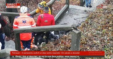 Petrosani – O persoană a suferit un stop cardio-respirator. Din păcate a decedat / VIDEO