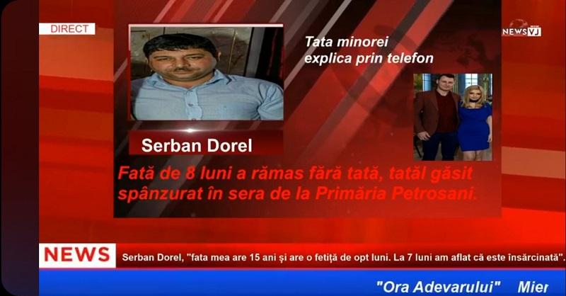 """Serban Dorel, """"fata mea are 15 ani și are o fetiță de opt luni. La 7 luni am aflat că este însărcinată"""" / AUDIO"""