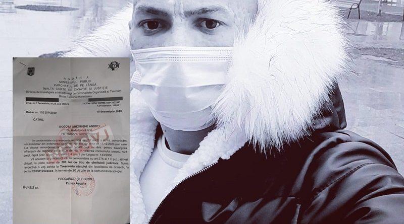 """Gogotă Andrei, """"am fost acuzat că dețin droguri de mare risc"""". DIICOT renunță la urmărirea penală."""
