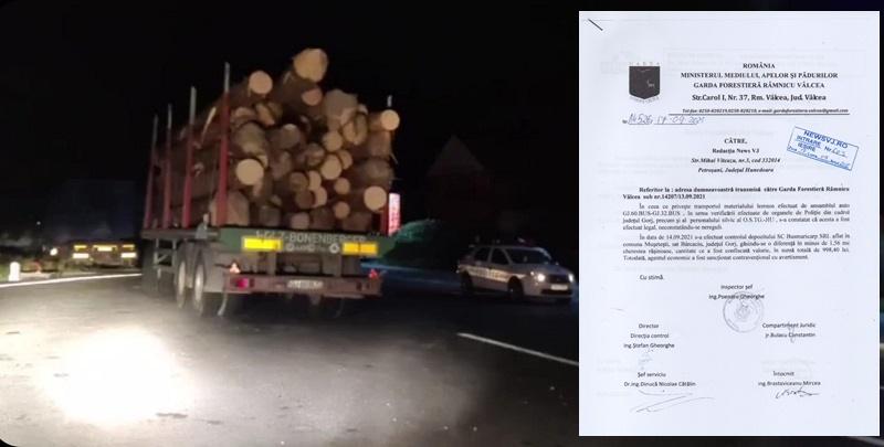 Mici probleme la un gater din Gorj. Garda Forestieră Gorj a găsit mici nereguli la un agent economic.